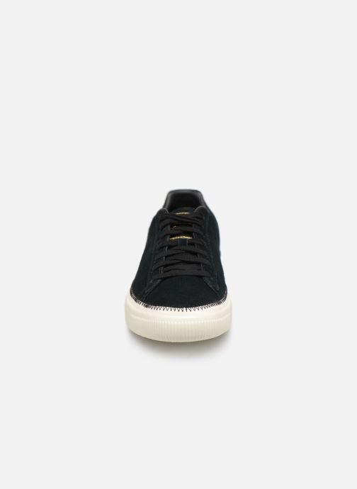 Sneakers Puma Suede Trim Nero modello indossato