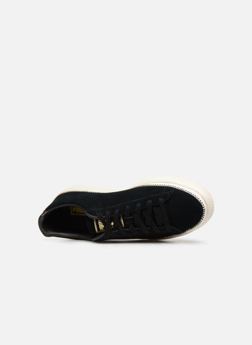 Baskets Puma Suede Trim Noir vue gauche