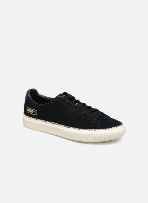 Sneakers Puma Suede Trim Sort detaljeret billede af skoene