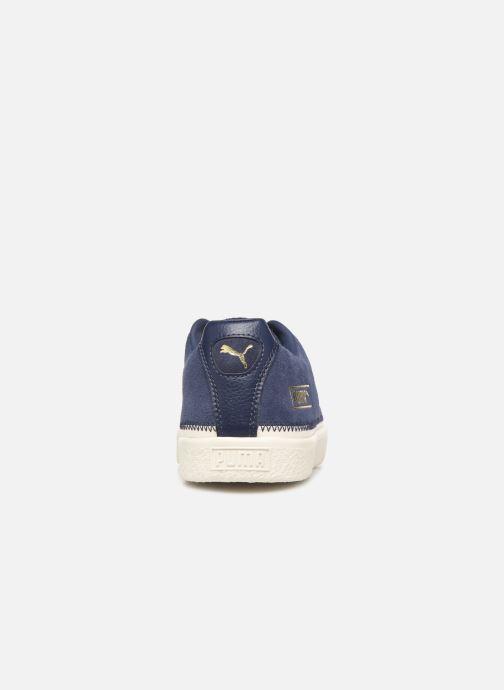 Baskets Puma Suede Trim Bleu vue droite