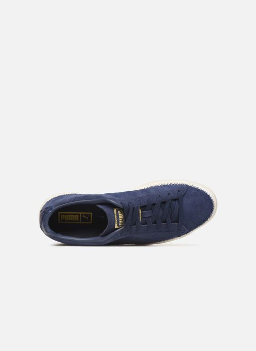 Trainers Puma Suede Trim Blue view from the left
