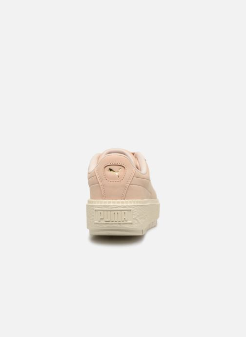 Baskets Puma Platform Trace Soft Rose vue droite