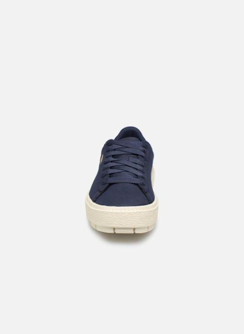 Baskets Puma Platform Trace Soft Bleu vue portées chaussures