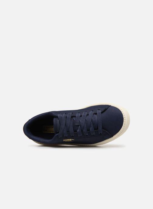 Baskets Puma Platform Trace Soft Bleu vue gauche