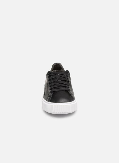 Baskets Puma Basket Platform Opulence Noir vue portées chaussures