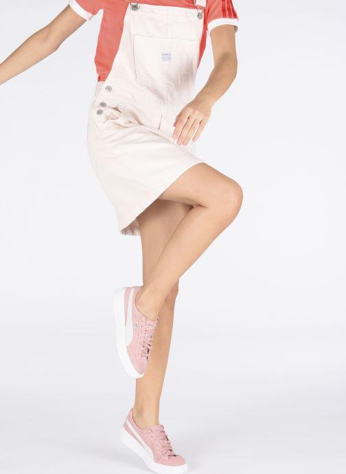 Sneaker Puma WNS Suede Creepers rosa ansicht von unten / tasche getragen