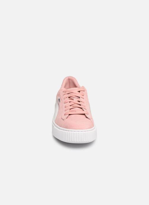 Sneaker Puma WNS Suede Creepers rosa schuhe getragen