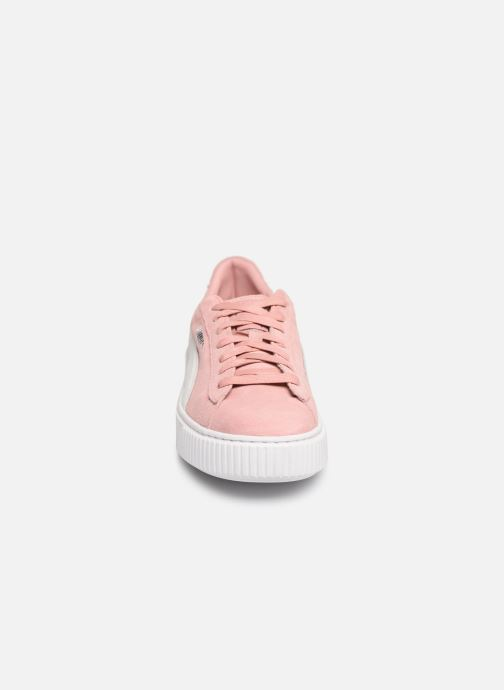 Baskets Puma WNS Suede Creepers Rose vue portées chaussures