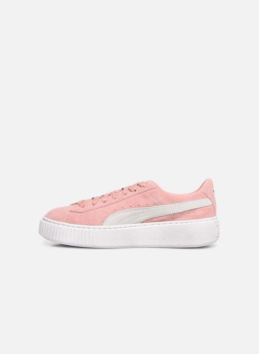 Sneaker Puma WNS Suede Creepers rosa ansicht von vorne