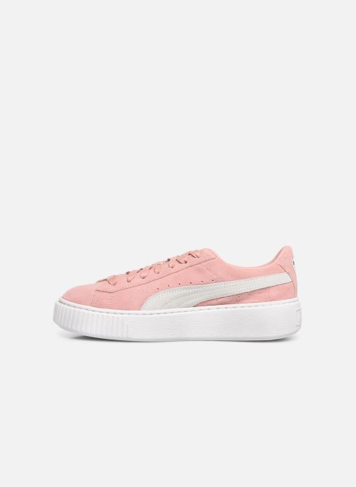 Baskets Puma WNS Suede Creepers Rose vue face