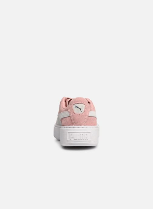 Baskets Puma WNS Suede Creepers Rose vue droite