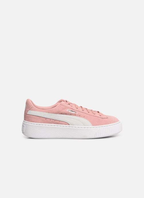 Baskets Puma WNS Suede Creepers Rose vue derrière