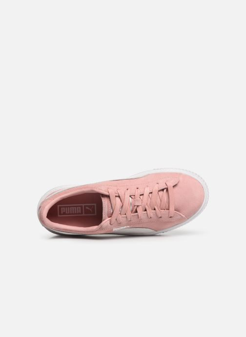 Baskets Puma WNS Suede Creepers Rose vue gauche