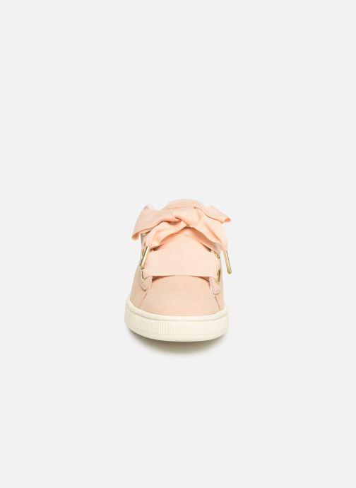 Baskets Puma Basket Heart Soft Rose vue portées chaussures