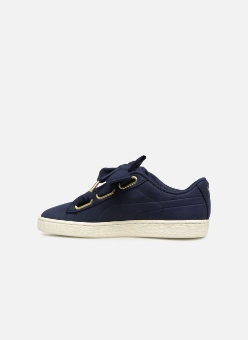Trainers Puma Basket Heart Soft Blue front view
