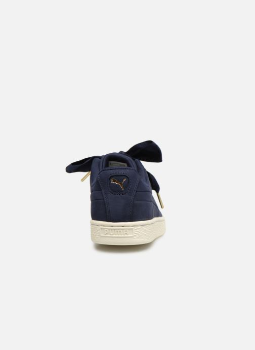 Trainers Puma Basket Heart Soft Blue view from the right