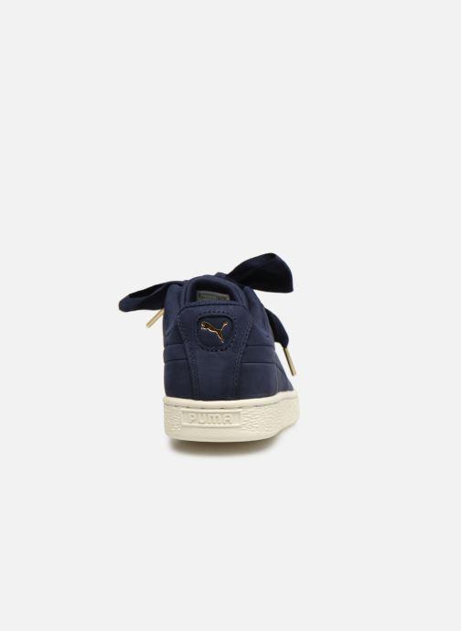 Baskets Puma Basket Heart Soft Bleu vue droite