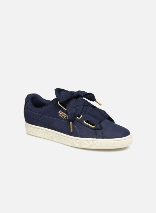 Trainers Puma Basket Heart Soft Blue detailed view/ Pair view