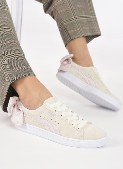 Sneakers Puma Suede Bow Hexamesh Grigio immagine dal basso