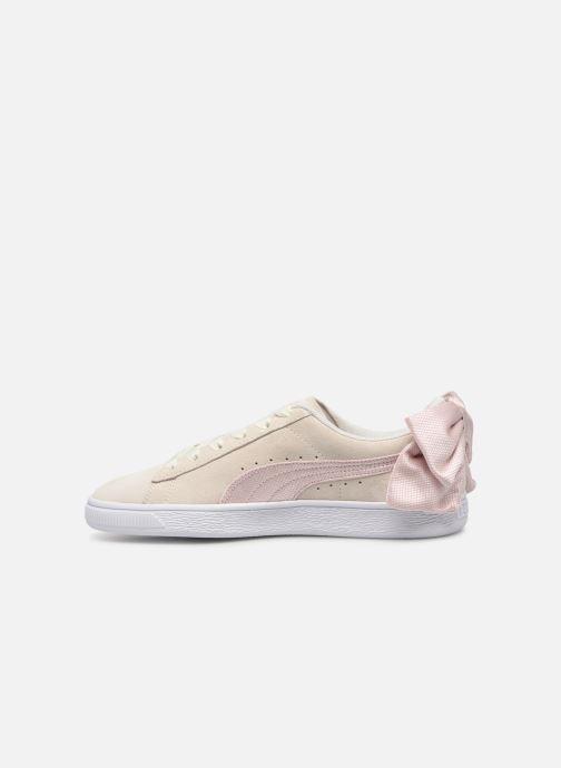 Sneakers Puma Suede Bow Hexamesh Grijs voorkant