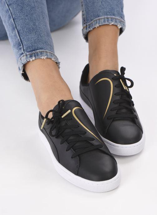 Sneaker Puma Basket Crush Amboss schwarz ansicht von unten / tasche getragen