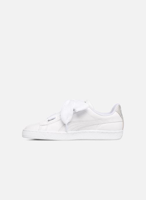 Deportivas Puma Basket Heart Bio Hacking Blanco vista de frente