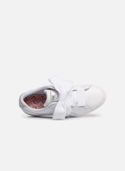Sneakers Puma Basket Heart Bio Hacking Bianco immagine sinistra