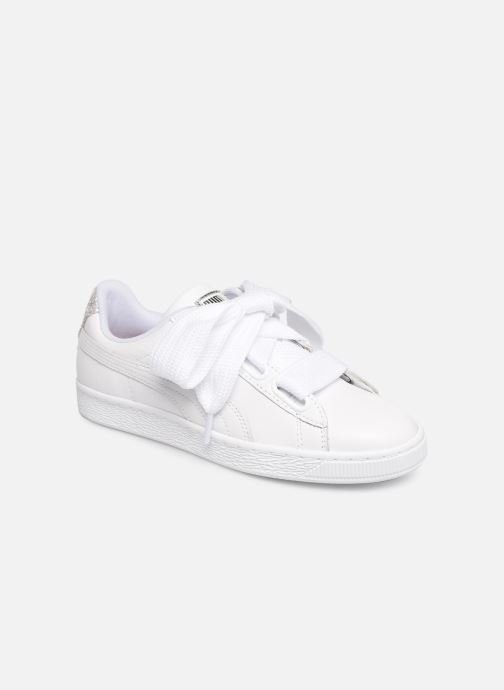 Baskets Puma Basket Heart Bio Hacking Blanc vue détail/paire