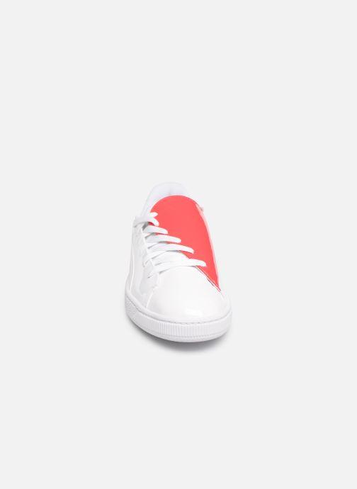 Baskets Puma Basket Crush Wn'S Blanc vue portées chaussures
