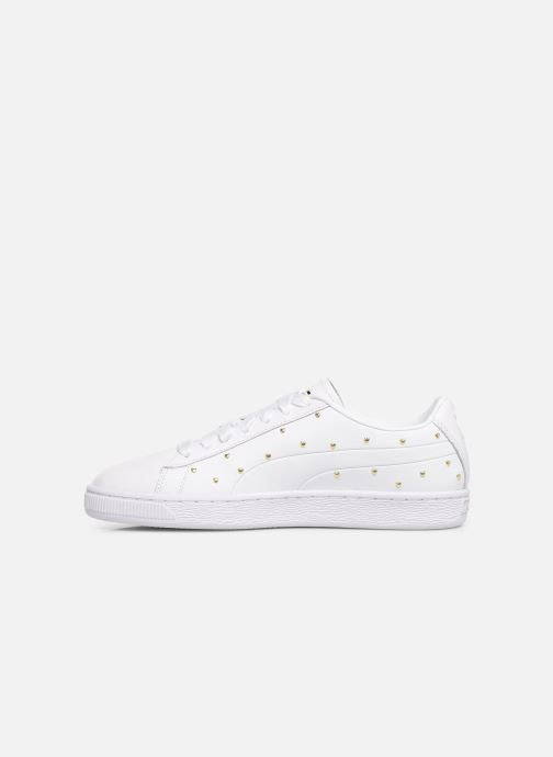 Trainers Puma Basket Studs White front view