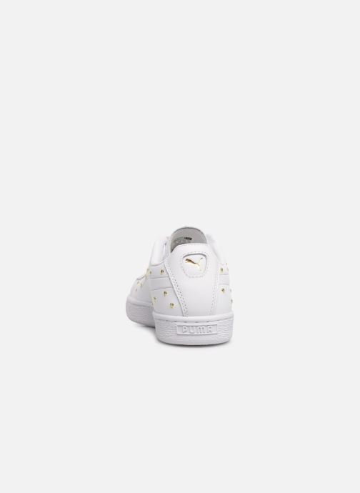Trainers Puma Basket Studs White view from the right