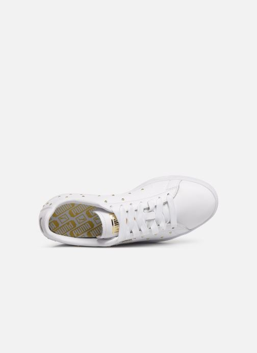 Trainers Puma Basket Studs White view from the left