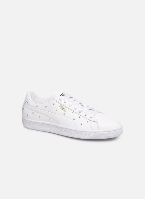 Trainers Puma Basket Studs White detailed view/ Pair view