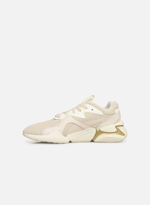 Sneaker Puma Nova Pastel Grunge Wn's beige ansicht von vorne