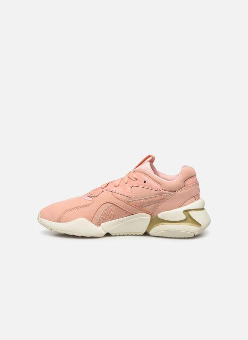 Sneaker Puma Nova Pastel Grunge Wn's rosa ansicht von vorne
