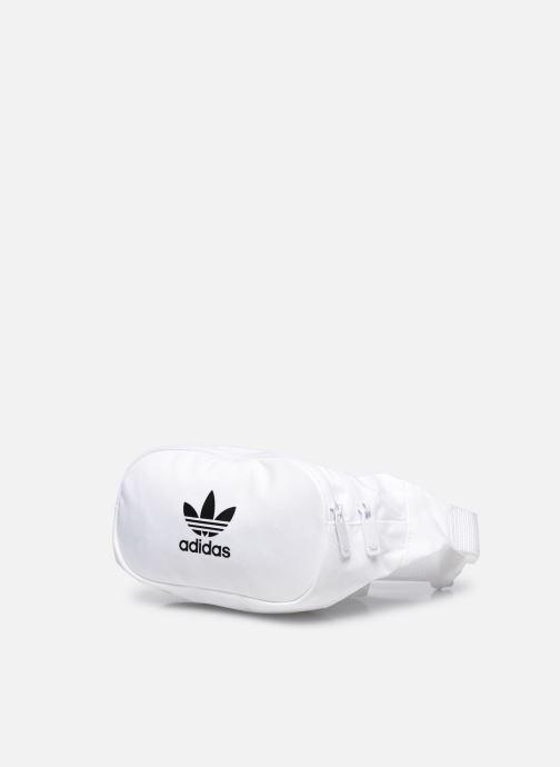 Sacs à main adidas originals ESSENTIAL CBODY Blanc vue portées chaussures