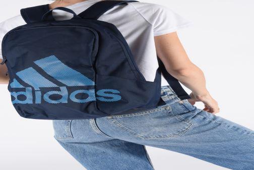 Mochilas adidas performance PARKHOOD BOS Azul vista de abajo