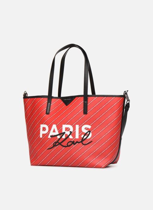 Sacs à main KARL LAGERFELD k/city shopper paris Rouge vue portées chaussures