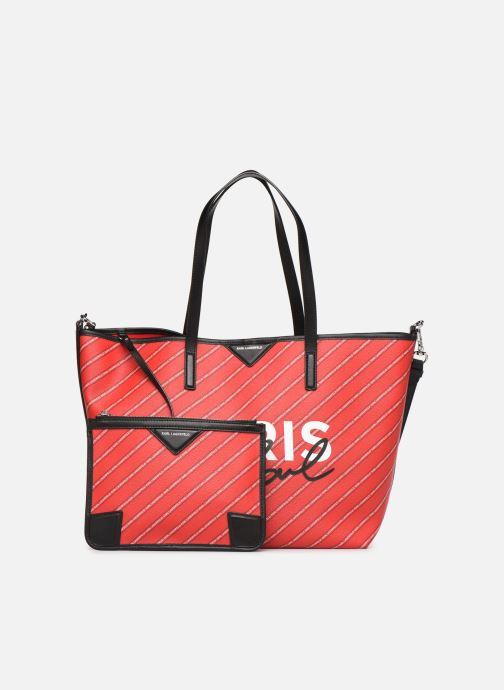 Sacs à main Karl Lagerfeld k/city shopper paris Rouge vue gauche