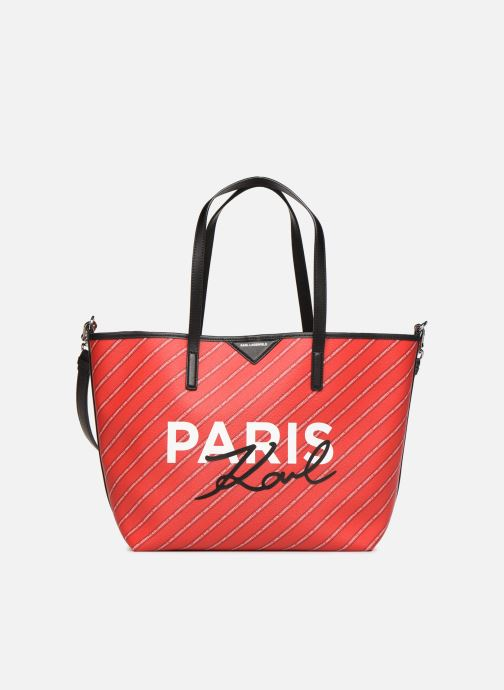 Handtassen Karl Lagerfeld k/city shopper paris Rood detail