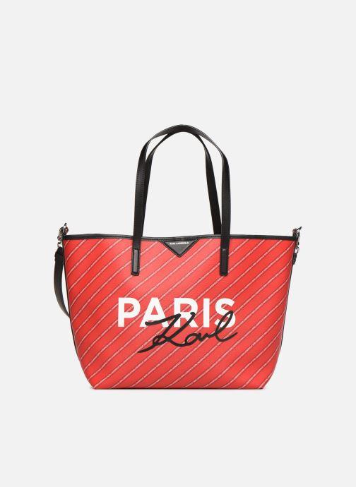 Handtassen Karl Lagerfeld k/city shopper paris Rood detail