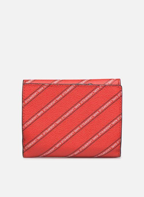 Petite Maroquinerie Karl Lagerfeld k/city medium wallet paris Rouge vue face