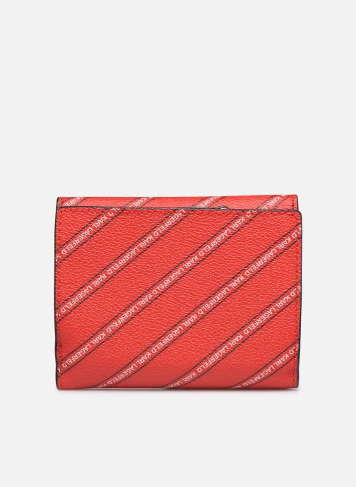 Kleine lederwaren Karl Lagerfeld k/city medium wallet paris Rood voorkant