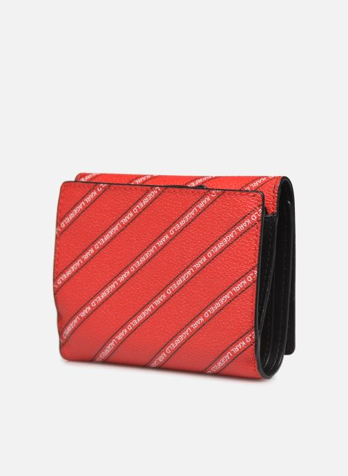 Kleine lederwaren Karl Lagerfeld k/city medium wallet paris Rood rechts