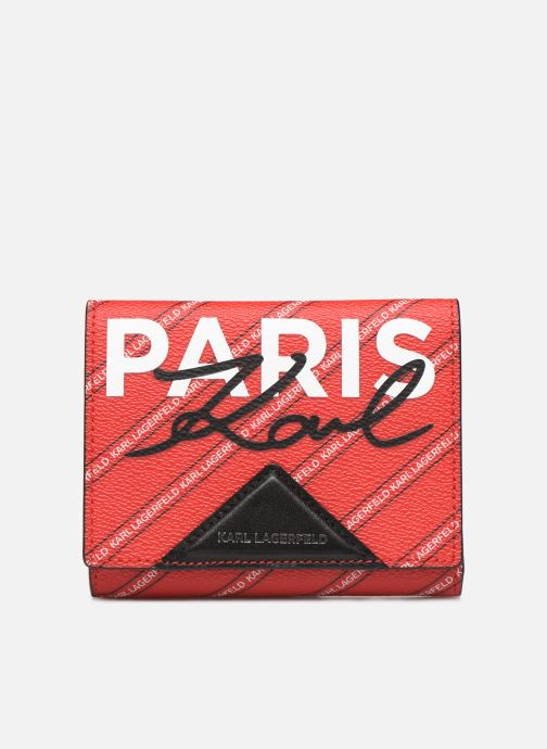 Kleine lederwaren Karl Lagerfeld k/city medium wallet paris Rood detail