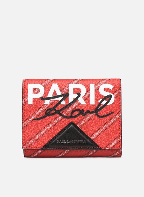 Petite Maroquinerie Karl Lagerfeld k/city medium wallet paris Rouge vue détail/paire