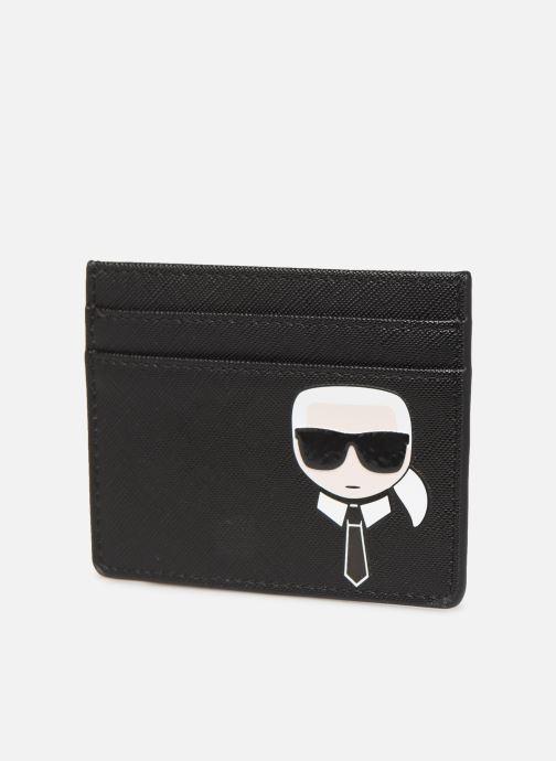 Petite Maroquinerie KARL LAGERFELD k/ikonik cardholder Noir vue portées chaussures
