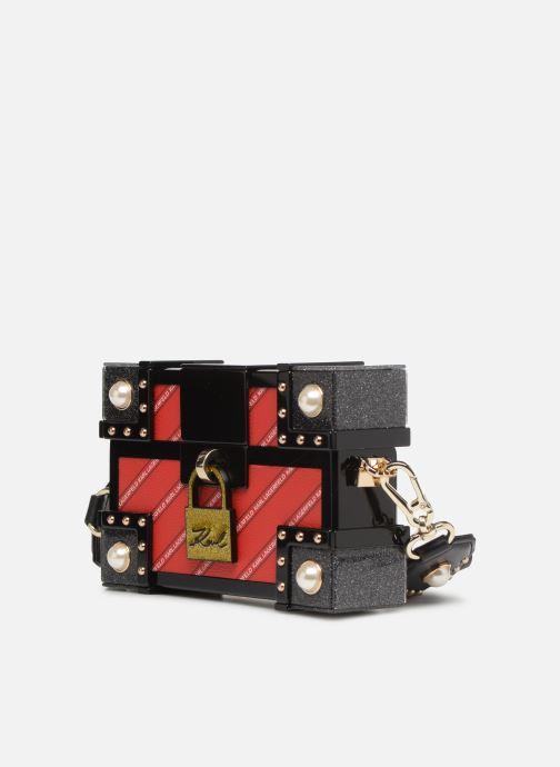 Sacs à main KARL LAGERFELD karl treasure box minaudiere Rouge vue portées chaussures