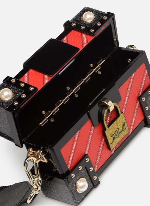 Sacs à main KARL LAGERFELD karl treasure box minaudiere Rouge vue derrière