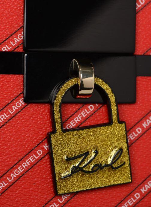 Sacs à main KARL LAGERFELD karl treasure box minaudiere Rouge vue gauche